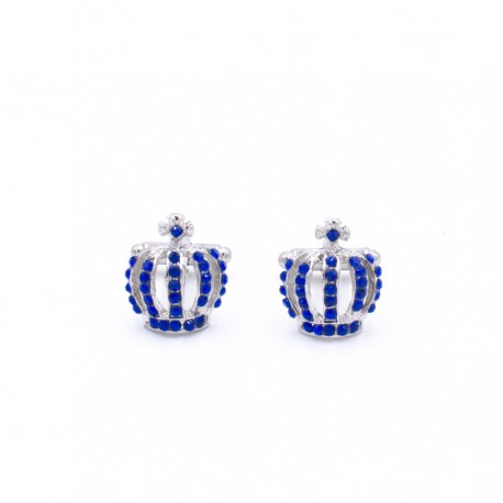 Blue Crown Cufflinks
