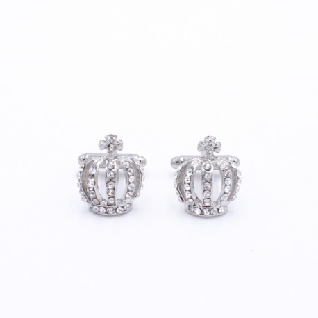 White Crown Cufflinks