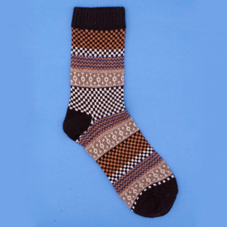 Folk Brown Socks