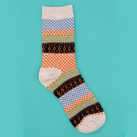 Folk Orange Socks