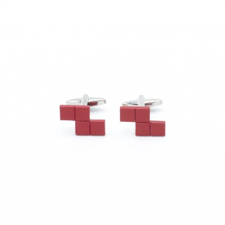 "Tetris Cufflinks ""Red"""